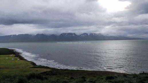 Islande à vélo 2014, fjord Eyjafjordur