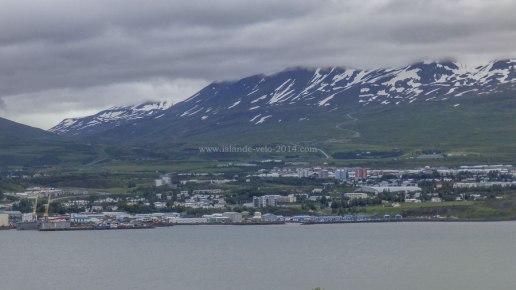 Islande à vélo 2014, vue sur Akureyri