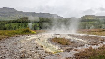 Islande à vélo 2014, le site géothermal de Geysir