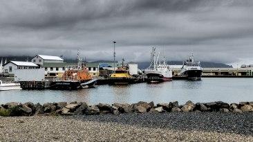Islande à vélo 2014, port de Hofn