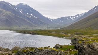 Islande à vélo 2014, sur la route 1 à la sortie de Hofn