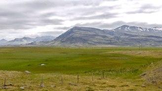 Islande à vélo 2014, sur la route 1 dans le Sud-Est