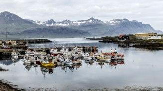 Islande à vélo 2014, port de Djupivogur en Islande