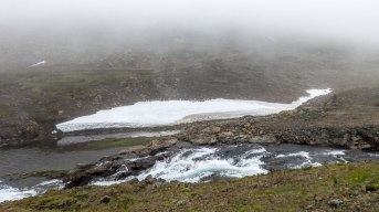 Islande à vélo 2014, passage de col en direction de Egilsstadir
