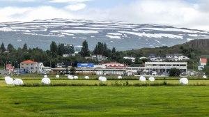 Islande à vélo 2014, l'arrivée à Egilsstadir