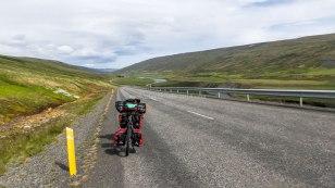Islande à vélo 2014, route numéro 1 en direction des hauts plateaux