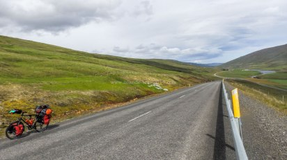 Islande à vélo 2014, route numéro 1 vers les hauts plateaux