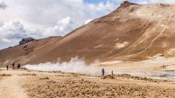 Islande à vélo 2014, site géothermal autour de Myvatn