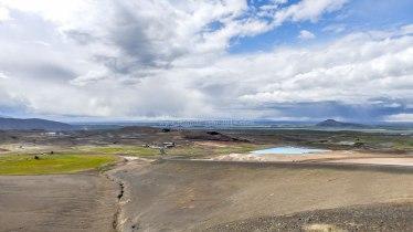 Islande à vélo 2014, lac de Myvatn