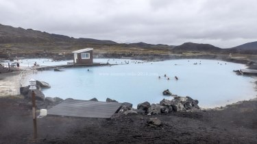 Islande à vélo 2014, bains naturels de Myvatn