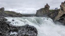 Islande à vélo 2014, chute de Godafoss