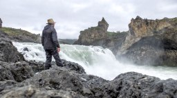 Islande à vélo 2014, vue de Godafoss