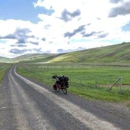 Islande à vélo 2014, en route vers le centre de l'Islande