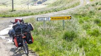 Islande à vélo 2014, direction Hveravellir