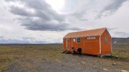 Islande à vélo 2014, refuge sur la F35