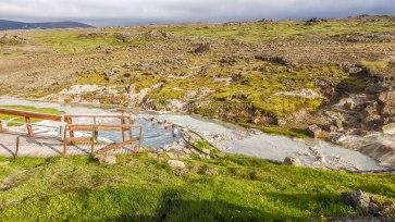Islande à vélo 2014, bain chaud de Hveravellir