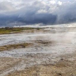 Islande à vélo 2014, site géothermal de Hveravellir