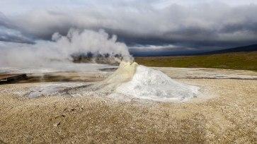 Islande à vélo 2014, site de Hveravellir