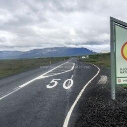 Islande à vélo 2014, à l'entrée du parc national de Pingvellir