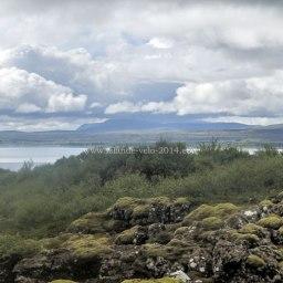 Islande à vélo 2014, dans le parc national de Pingvellir