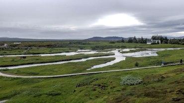 Islande à vélo 2014 , vue de Pingvellir