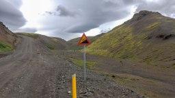 Islande à vélo 2014à l'entrée de la F550