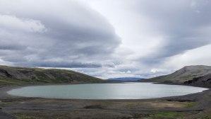 Islande à vélo 2014, lac à l'entrée de la F550