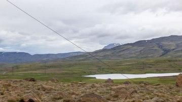 Islande à vélo 2014, vue du refuge de secours sur la F550