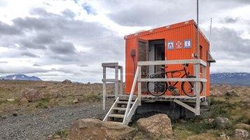 Islande à vélo 2014, bivouac au refuge sur la F550