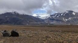 Islande à vélo 2014, piste 550, vue sur le Langjokull