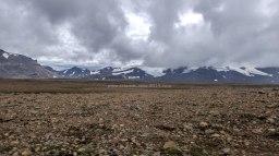 Islande à vélo 2014, vue sur le Langjokull