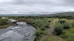 Islande à vélo 2014, à proximité de Barnafoss