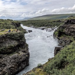 Islande à vélo 2014, chute de Barnafoss