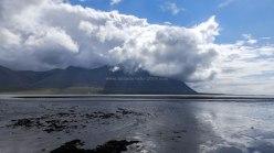 Islande à vélo 2014, vue sur la montagne Hafnarfjall