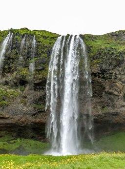 Islande à vélo 2014, la chute de seljalandsfoss
