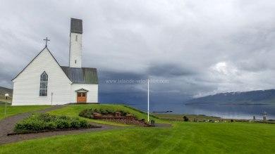 Islande à vélo 2014, église sur le Hvallfjordur