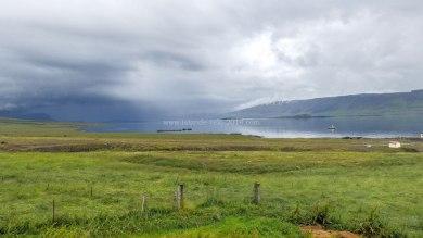 Islande à vélo 2014, le fjord Hvallfjordur