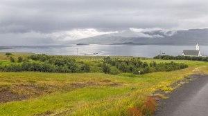 Islande à vélo 2014, en bordure du Hvallfjordur