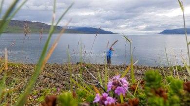 Islande à vélo 2014, au pied du Hvallfjordur
