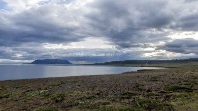 Islande à vélo 2014, au bord du fjord Hvallfjordur