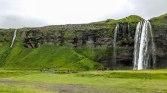 Islande à vélo, la chute de seljalandsfoss