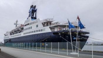 Islande à vélo 2014, bateau de tourisme sur le port de Reykjavik