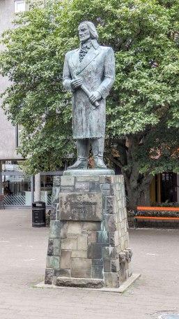 Islande à vélo 2014, statue de Magnusson à Reykjavik