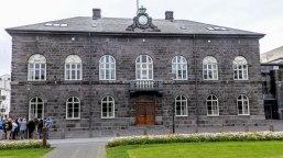 Islande à vélo 2014, le parlement islandais à Reykjavik
