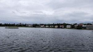 Islande à vélo 2014, lac de Reykjavik