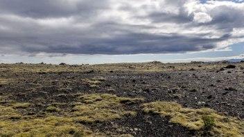 Islande à vélo 2014, vue de d'un bivouac en bordure de route 1