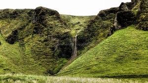 Islande à vélo 2014, cascade dans le sud