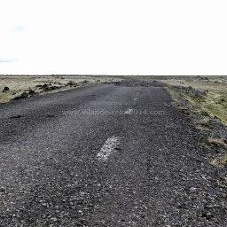 Islande à vélo 2014, route coupée par la route 1