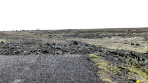 Islande à vélo 2014, champ de lave
