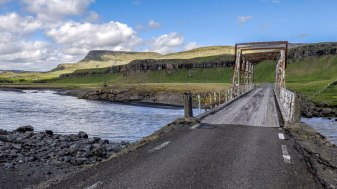 Islande à vélo 2014, pont abandonnée sur la route 1
